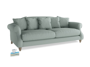 Large Sloucher Sofa in Sea fog Clever Woolly Fabric