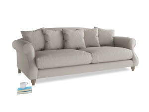 Large Sloucher Sofa in Sailcloth grey Clever Woolly Fabric