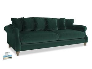 Extra large Sloucher Sofa in Dark green Clever Velvet
