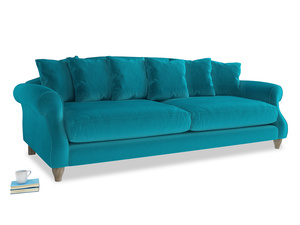 Extra large Sloucher Sofa in Pacific Clever Velvet