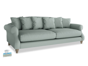 Extra large Sloucher Sofa in Sea fog Clever Woolly Fabric
