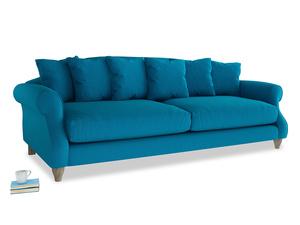 Extra large Sloucher Sofa in Bermuda Brushed Cotton