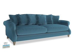 Extra large Sloucher Sofa in Old blue Clever Deep Velvet