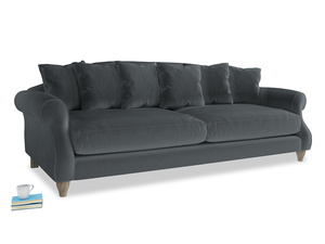 Extra large Sloucher Sofa in Dark grey Clever Deep Velvet