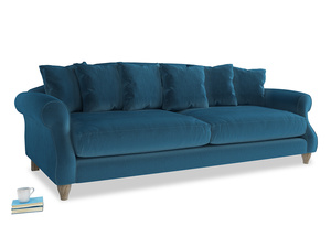 Extra large Sloucher Sofa in Twilight blue Clever Deep Velvet