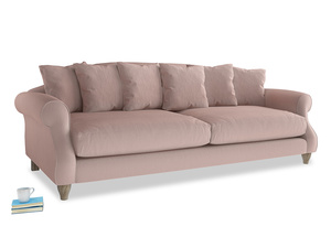 Extra large Sloucher Sofa in Rose quartz Clever Deep Velvet