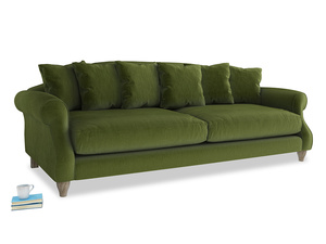 Extra large Sloucher Sofa in Good green Clever Deep Velvet
