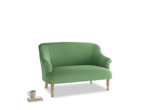 Small Sweetie Sofa in Clean green Brushed Cotton