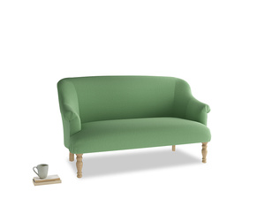 Medium Sweetie Sofa in Clean green Brushed Cotton