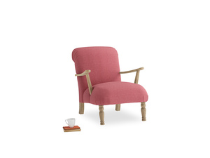 Brew Armchair in Raspberry brushed cotton