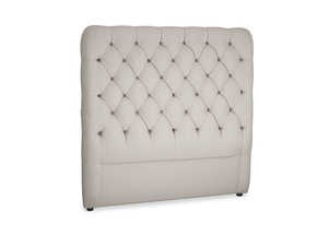 Double Tall Billow Headboard in Sailcloth grey Clever Woolly Fabric