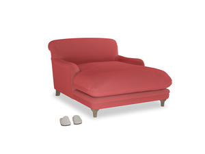 Pudding Love seat chaise in Carnival Clever Deep Velvet