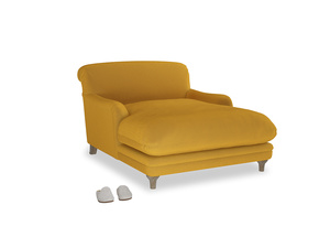 Pudding Love seat chaise in Pollen Clever Deep Velvet