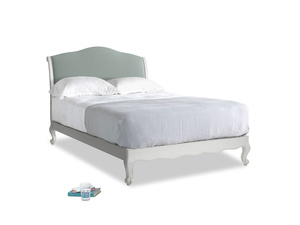 Double Coco Bed in Scuffed Grey in Sea fog Clever Woolly Fabric