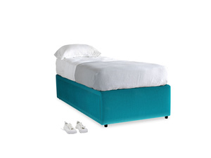 Single Friends Trundle Bed in Pacific Clever Velvet