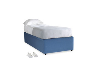 Single Friends Trundle Bed in English blue Brushed Cotton