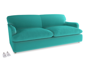 Large Pudding Sofa Bed in Fiji Clever Velvet