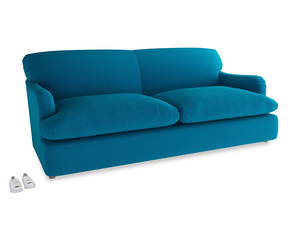 Large Pudding Sofa Bed in Bermuda Brushed Cotton