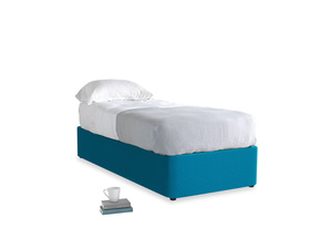 Single Store Storage Bed in Bermuda Brushed Cotton