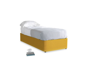 Single Store Storage Bed in Pollen Clever Deep Velvet