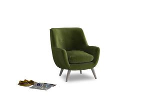 Berlin Armchair in Good green Clever Deep Velvet