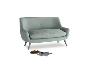 Small Berlin Sofa in Sea fog Clever Woolly Fabric
