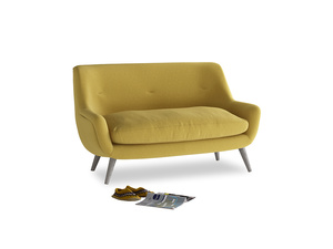 Small Berlin Sofa in Maize yellow Brushed Cotton