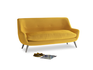 Medium Berlin Sofa in Pollen Clever Deep Velvet