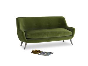 Medium Berlin Sofa in Good green Clever Deep Velvet