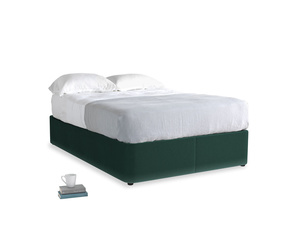 Double Store Storage Bed in Dark green Clever Velvet
