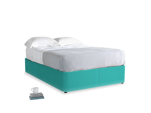 Double Store Storage Bed in Fiji Clever Velvet