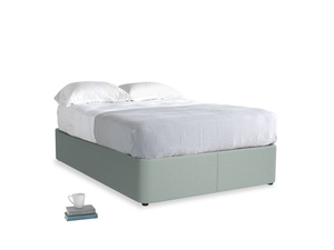 Double Store Storage Bed in Sea fog Clever Woolly Fabric
