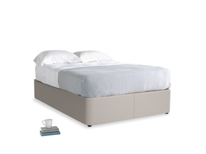 Double Store Storage Bed in Sailcloth grey Clever Woolly Fabric