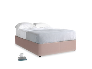 Double Store Storage Bed in Rose quartz Clever Deep Velvet