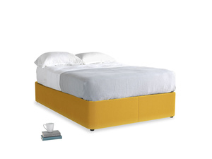 Double Store Storage Bed in Pollen Clever Deep Velvet