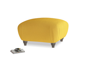 Small Square Homebody Footstool in Pollen Clever Deep Velvet