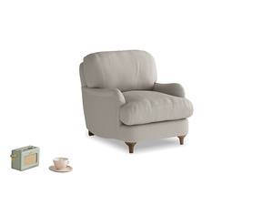 Jonesy Armchair in Sailcloth grey Clever Woolly Fabric