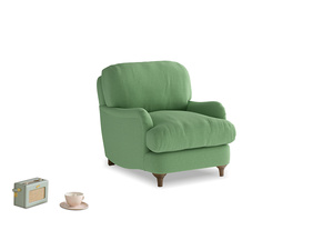 Jonesy Armchair in Clean green Brushed Cotton