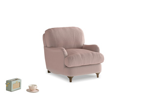 Jonesy Armchair in Rose quartz Clever Deep Velvet