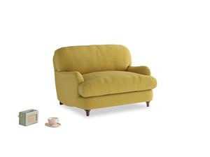 Jonesy Love seat in Maize yellow Brushed Cotton