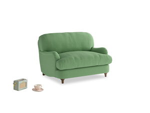 Jonesy Love seat in Clean green Brushed Cotton