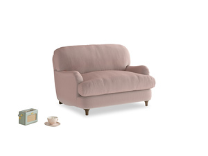 Jonesy Love seat in Rose quartz Clever Deep Velvet