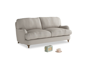 Small Jonesy Sofa in Sailcloth grey Clever Woolly Fabric