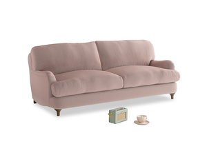 Medium Jonesy Sofa in Rose quartz Clever Deep Velvet