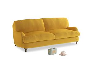 Medium Jonesy Sofa in Pollen Clever Deep Velvet