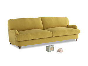 Large Jonesy Sofa in Maize yellow Brushed Cotton