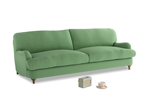 Large Jonesy Sofa in Clean green Brushed Cotton