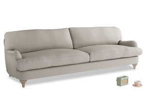 Extra large Jonesy Sofa in Sailcloth grey Clever Woolly Fabric