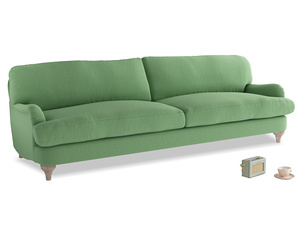 Extra large Jonesy Sofa in Clean green Brushed Cotton