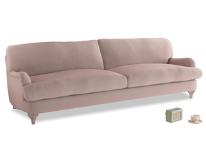 Extra large Jonesy Sofa in Rose quartz Clever Deep Velvet